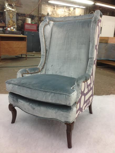 Two Tone Chair - Reupholstered and Restored
