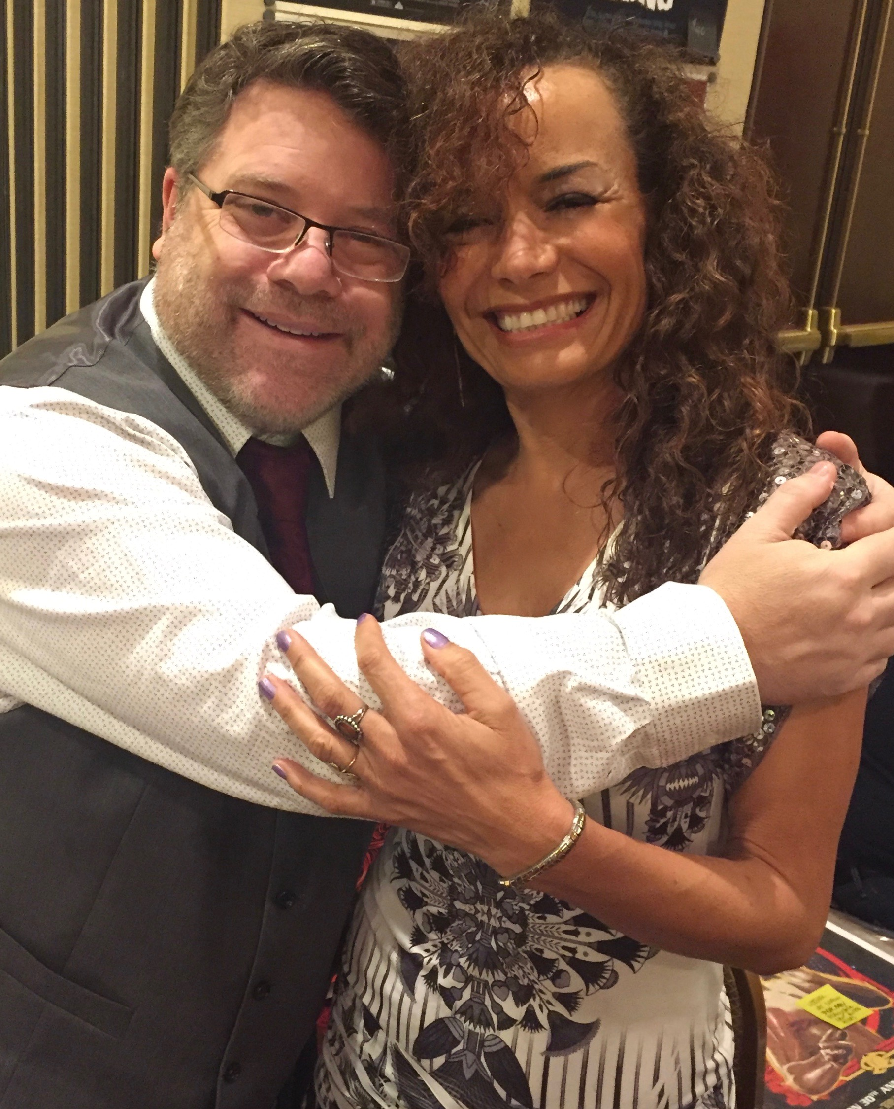 With the sweet Sean Astin