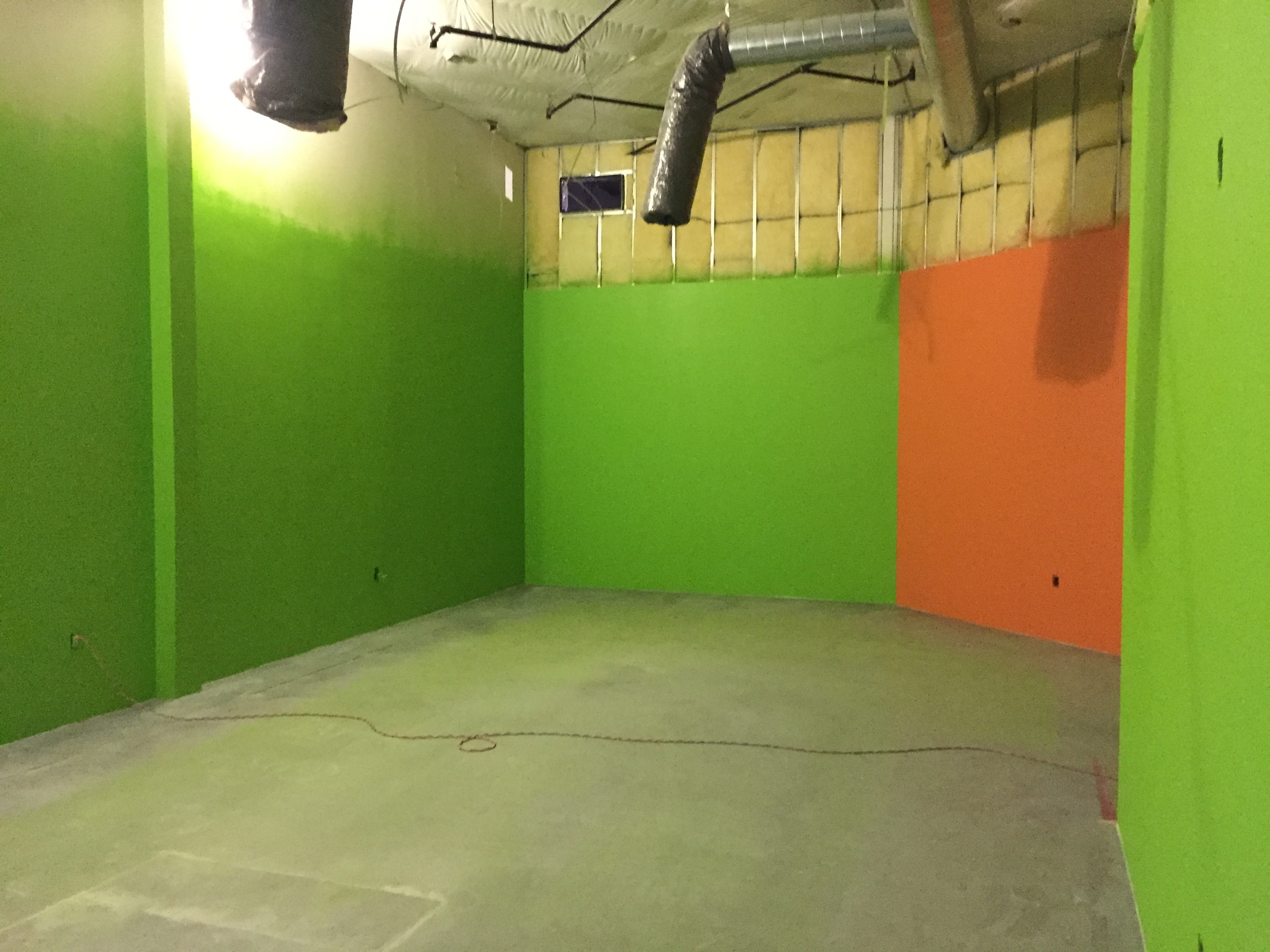 Kids' City worship area. Electric! Murals will go up this weekend!