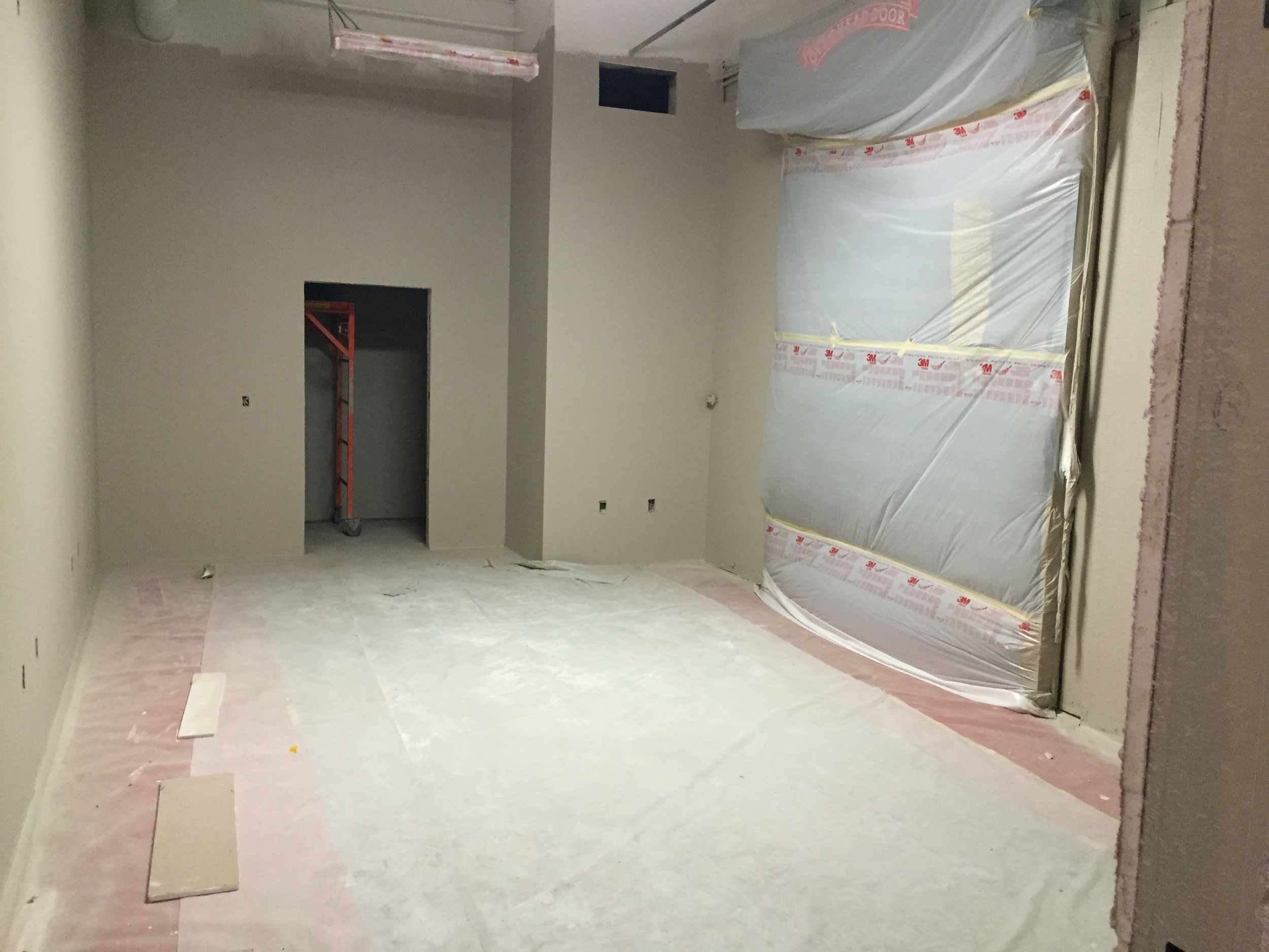 Office areas being painted.