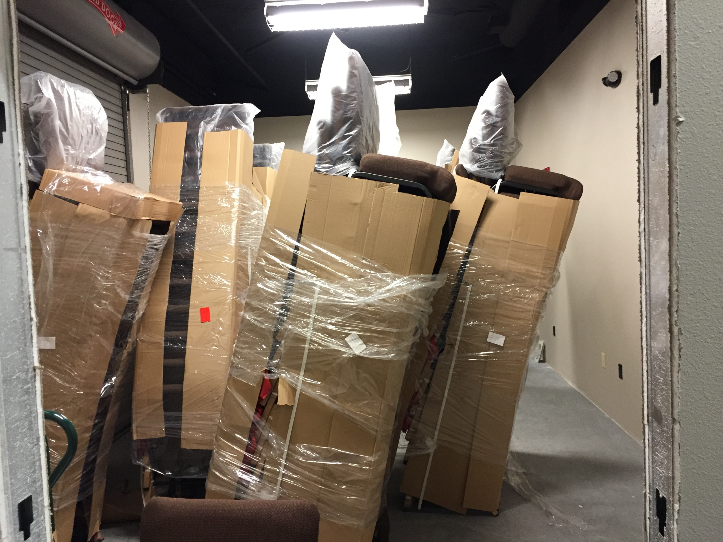 So that's what 250 chairs waiting to be set up look like!