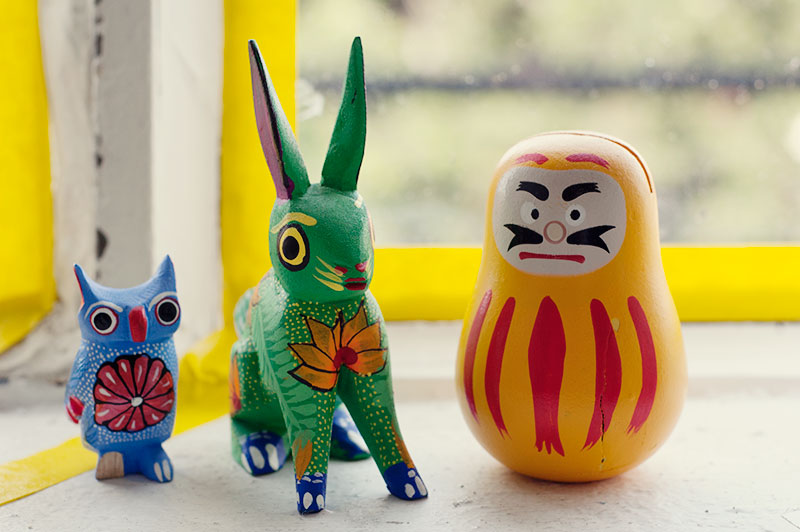 Colorful wooden friends!