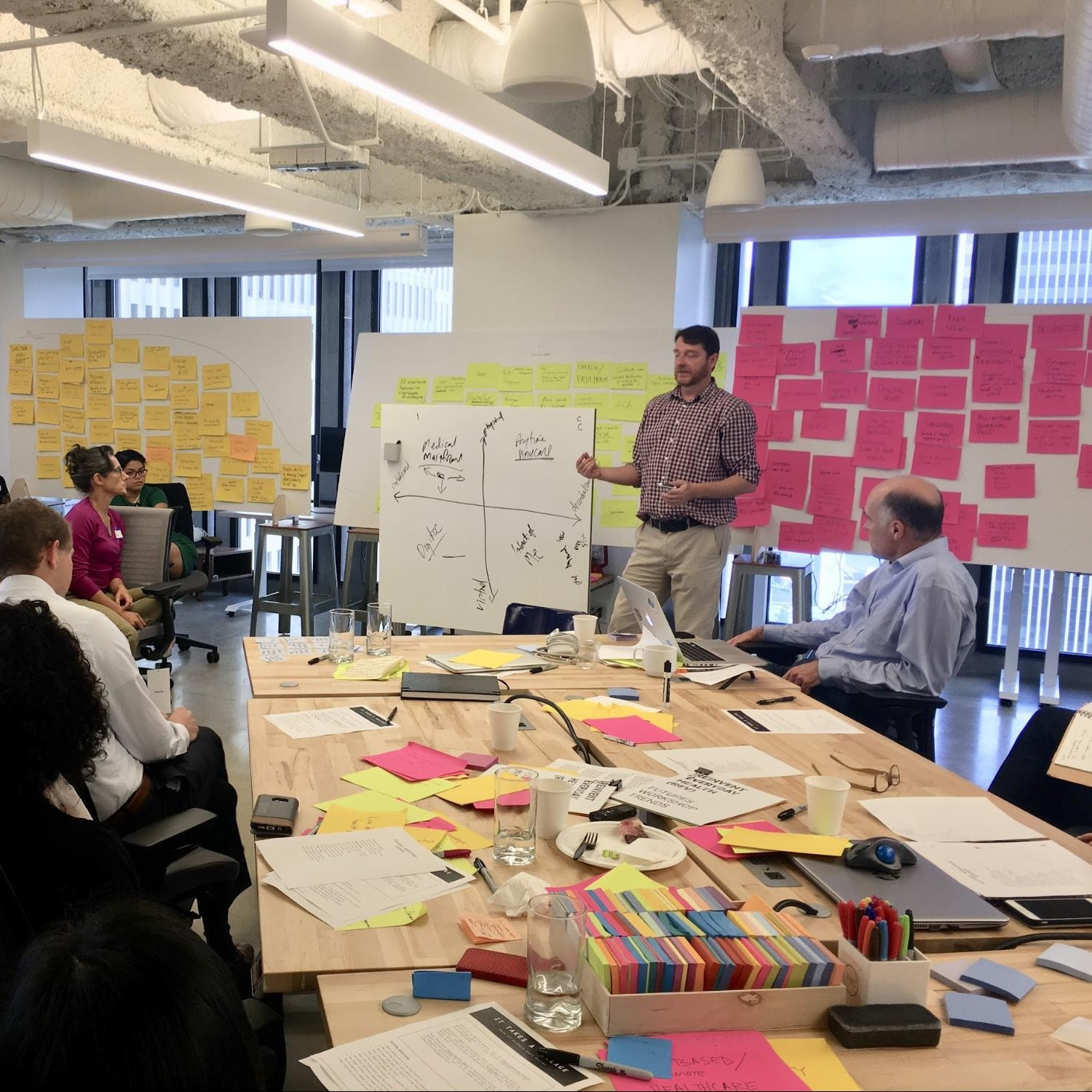 Sutter Health - We worked with Sutter Health's community of nurses, physicians, and other staff to develop scenarios that would inspire future innovation within the organization. The workshop resulted in a range of visions for the future of healthcare.