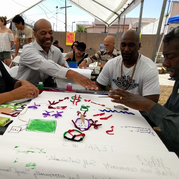Pando Populus x LA Trade Technical College - We co-designed and co-facilitated a community workshop in South LA to re-imagine the use of vacant lots in the area. During the workshop, local residents and leaders developed prototypes that were ultimately piloted.
