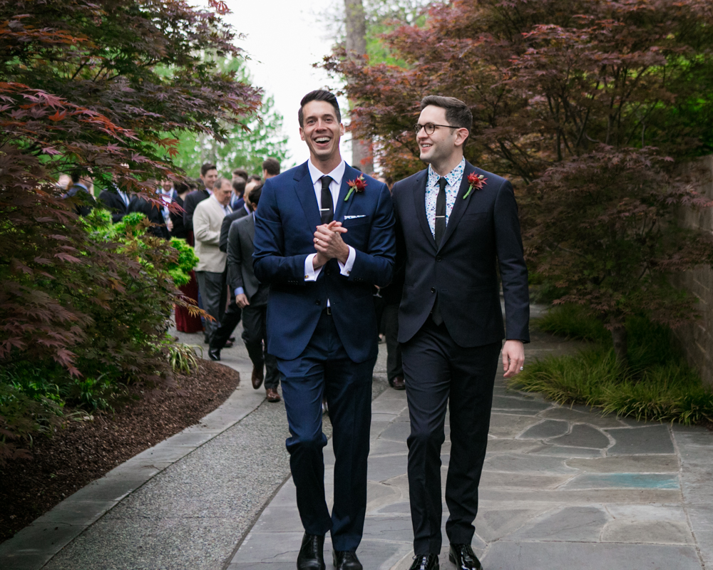 Happy Same Sex Couple Texas Wedding