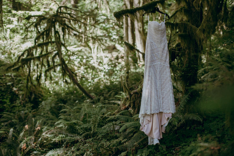 Wedding Dress at Silver Falls State Park
