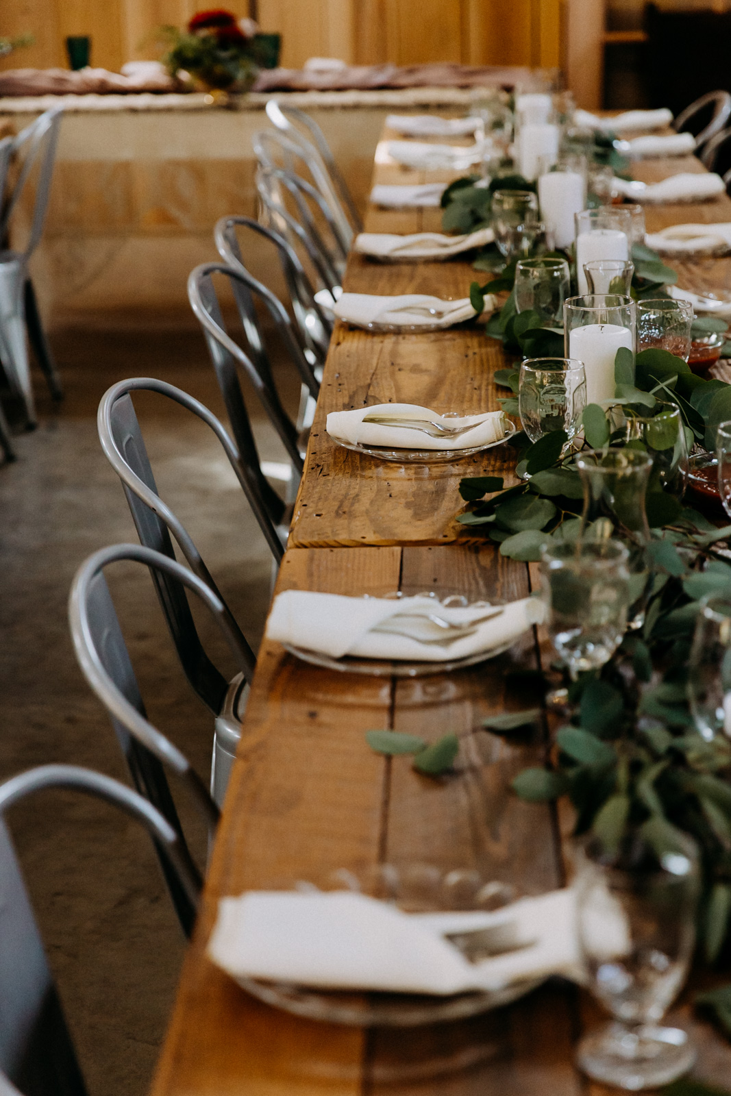 Decorated farm table