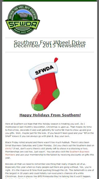 Snapshot of Actual Newsletter