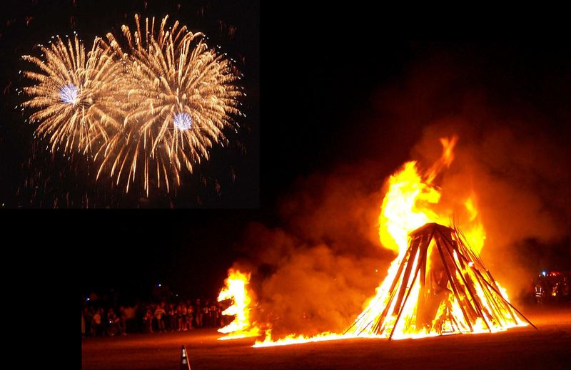 Saturday nights's Bonfire & Fireworks launch