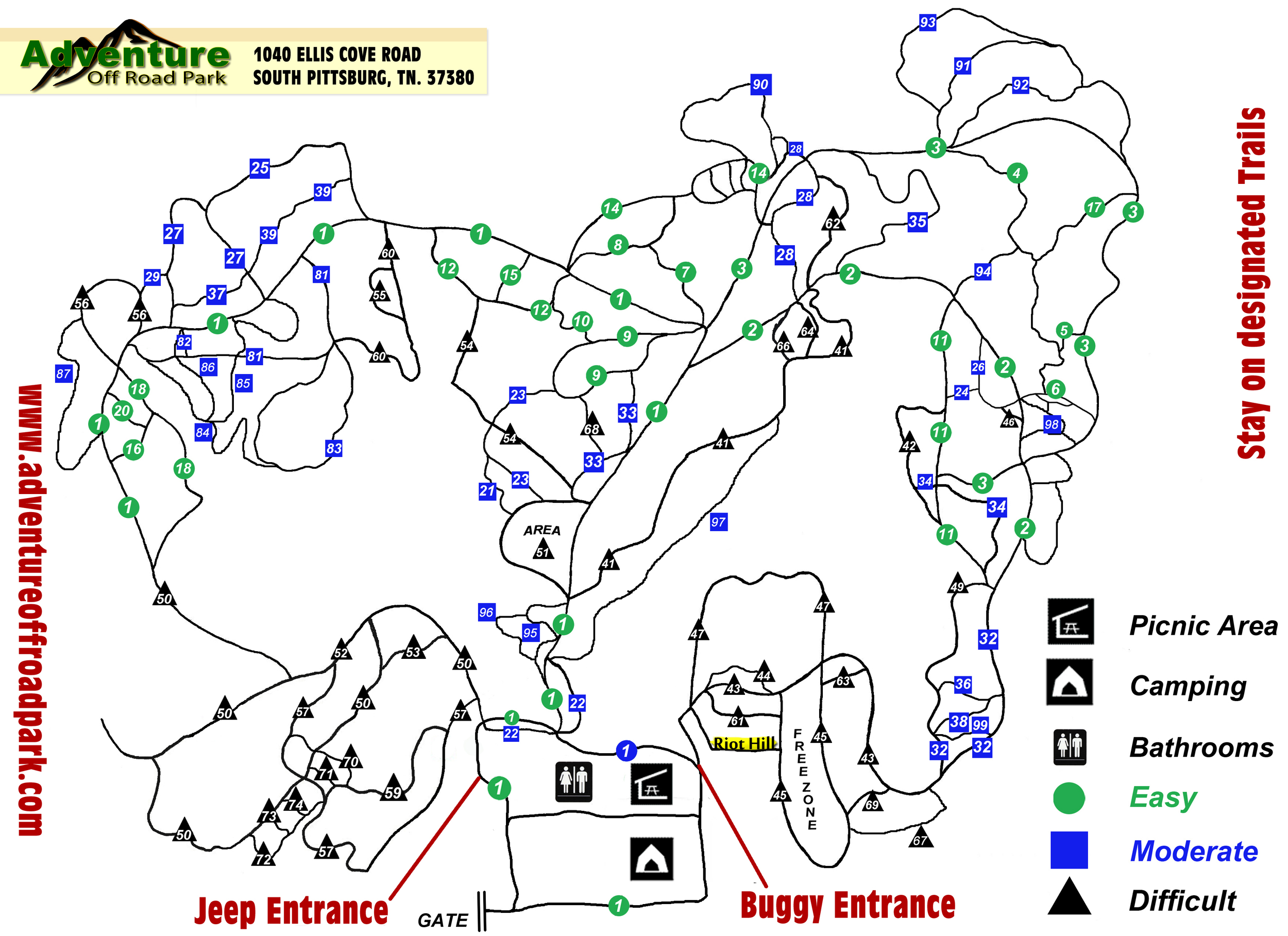 Current AOP Trail Map