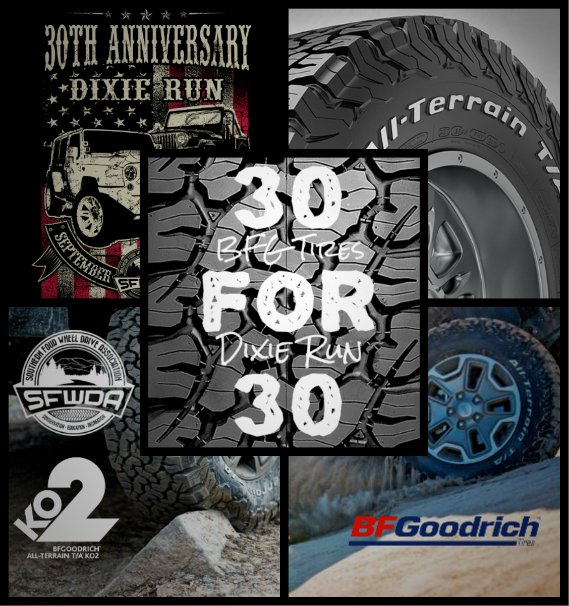 30 for 30 BFG Dixie Run Tires