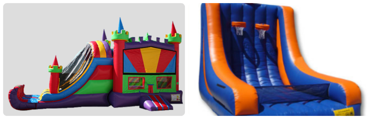 """Inflatable Basketball and """"The Castle"""" all day Friday & Saturay"""