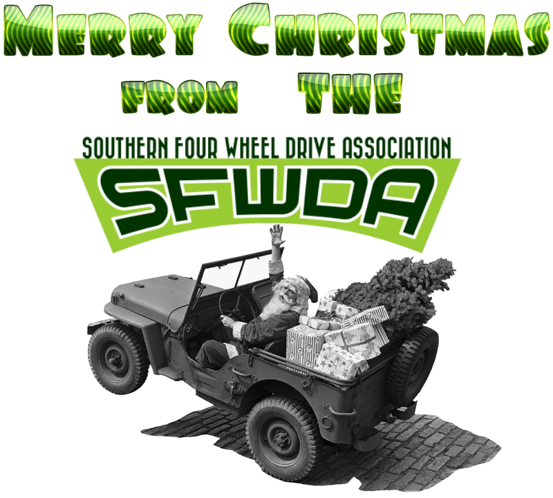 Merry Christmas SFWDA Jeep Santa
