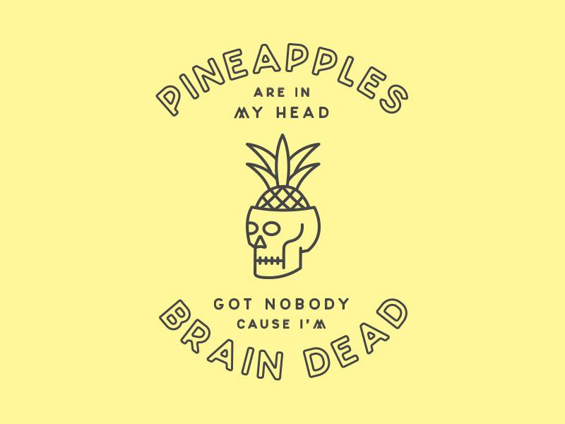 Glass Animals Pineapples | Shane Harris Design - Melbourne Florida Graphic Design