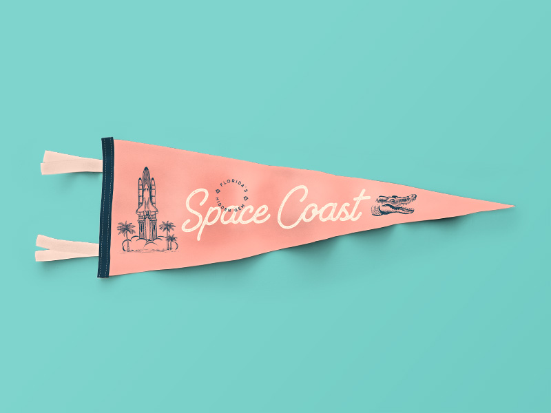 Florida Space Coast Pennant | Shane Harris Design - Melbourne Florida Graphic Design
