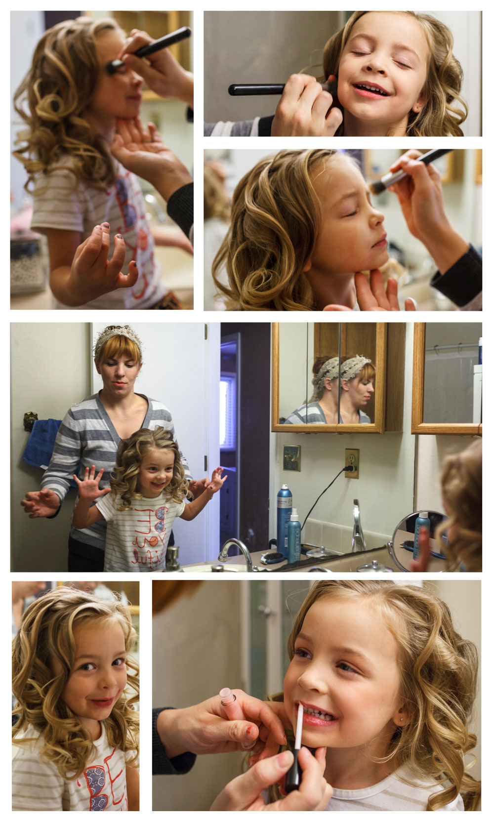 She loves to get dolled up!