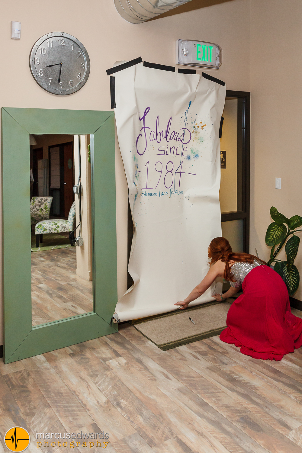 Janie prepping the doorway for Shannon to break through