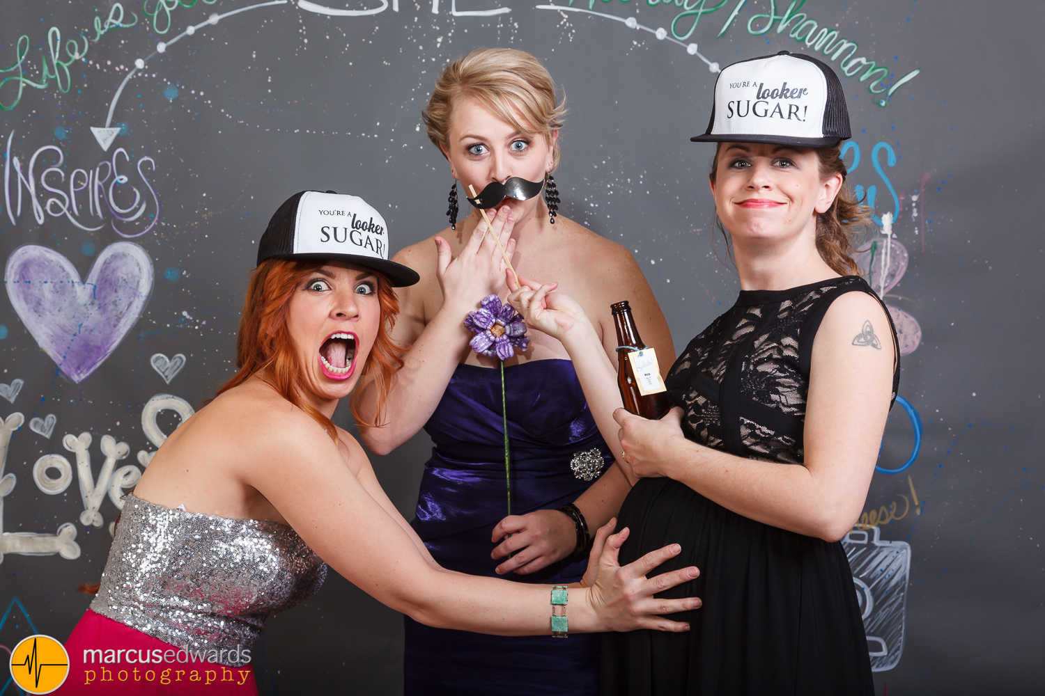 One of these 3 is not like the other..    Disclaimer: Karen, Janie's sister, was NOT drinking   alcohol. Just a prop for the photo :)