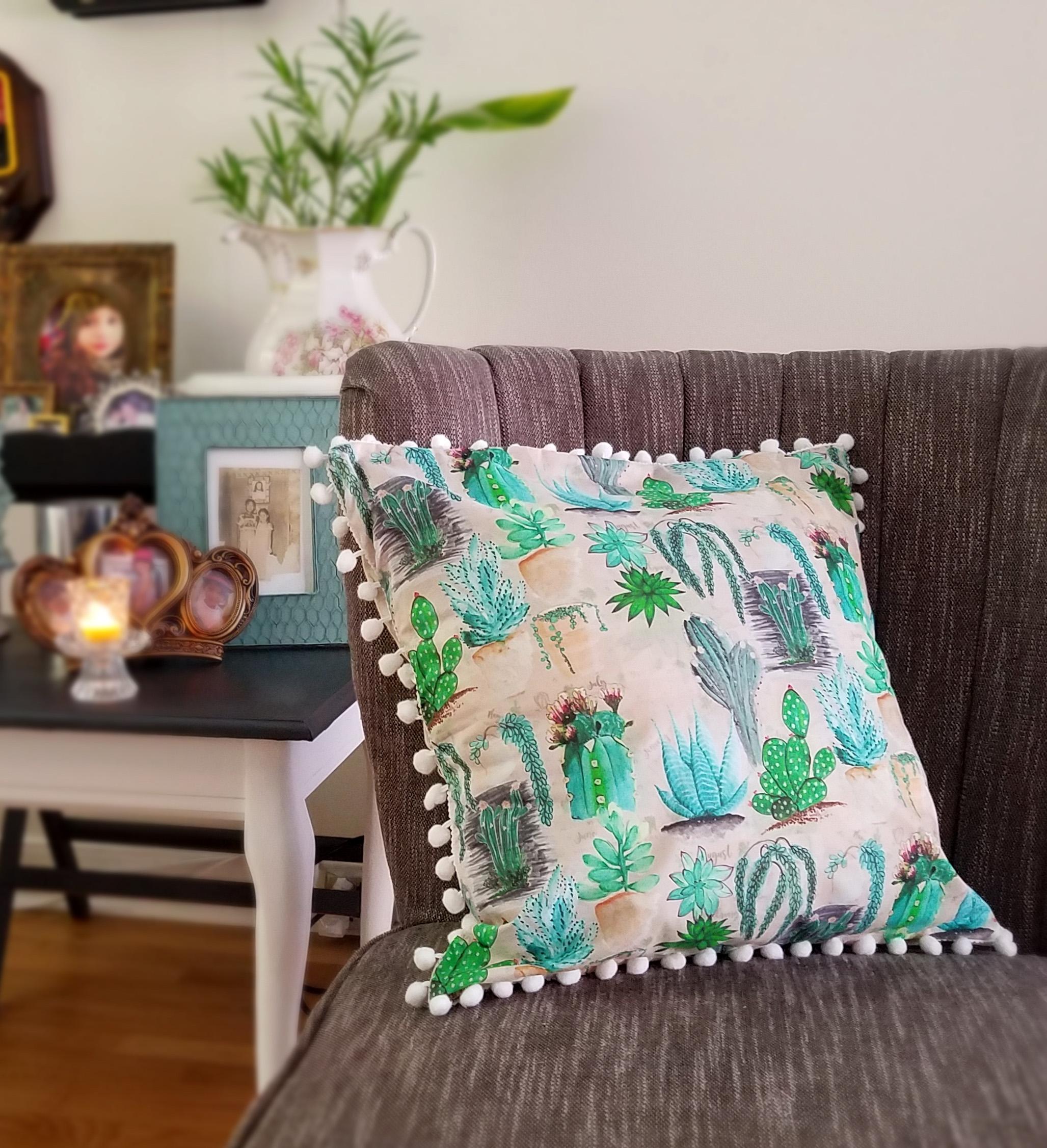 Succulent pillowcase