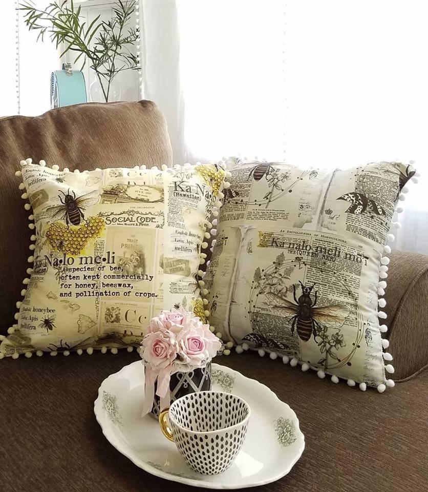 Honeybee and Queen Bee pillowcase