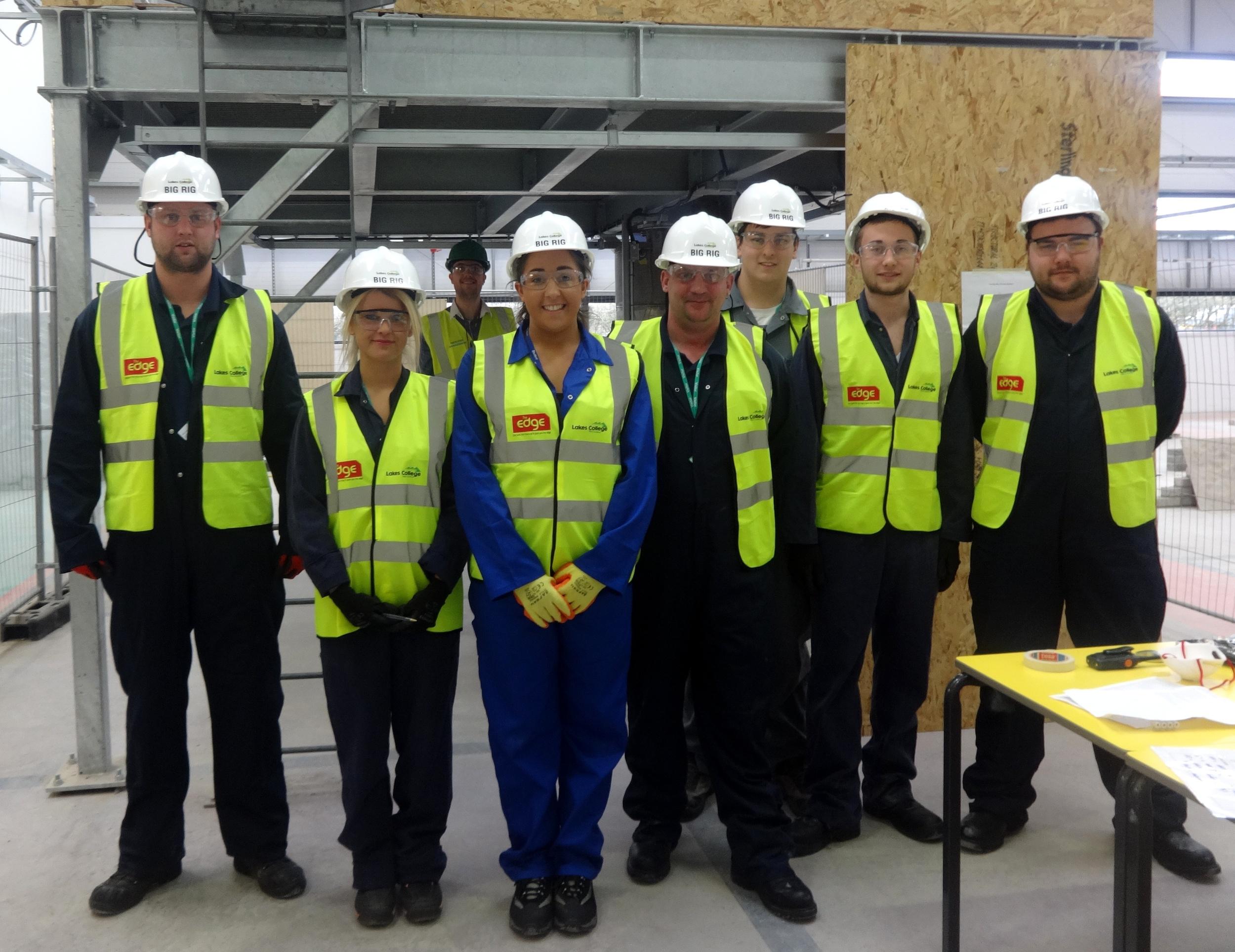 apprentice laura parker (3rd from left)