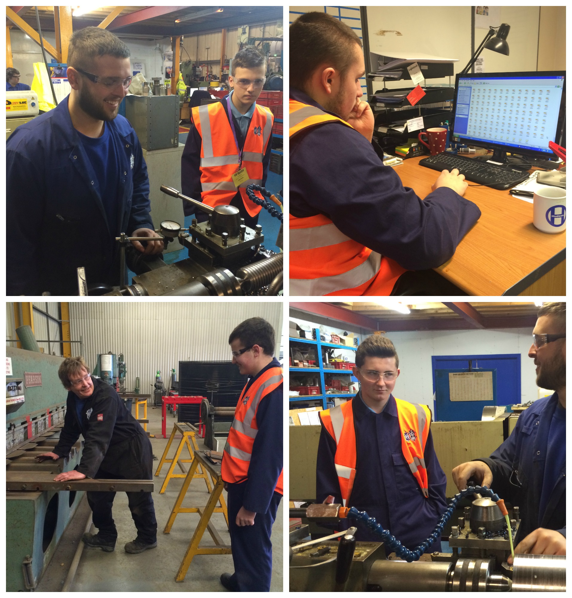 Students from the UTC at Hudson-Swan on work experience week!