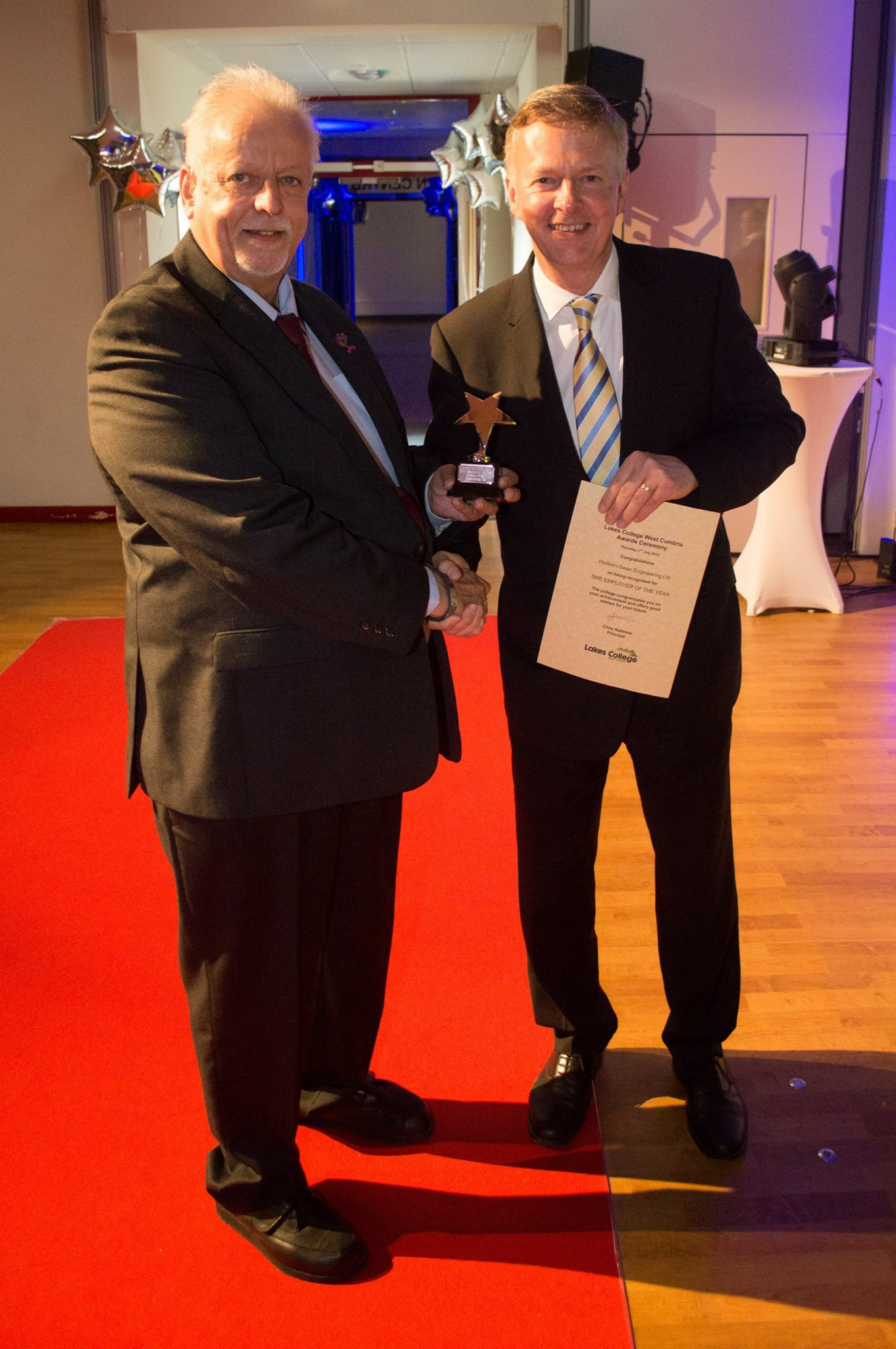 Operations Manager- mike layfield RECEIVING the award on thursday evening at lakes college