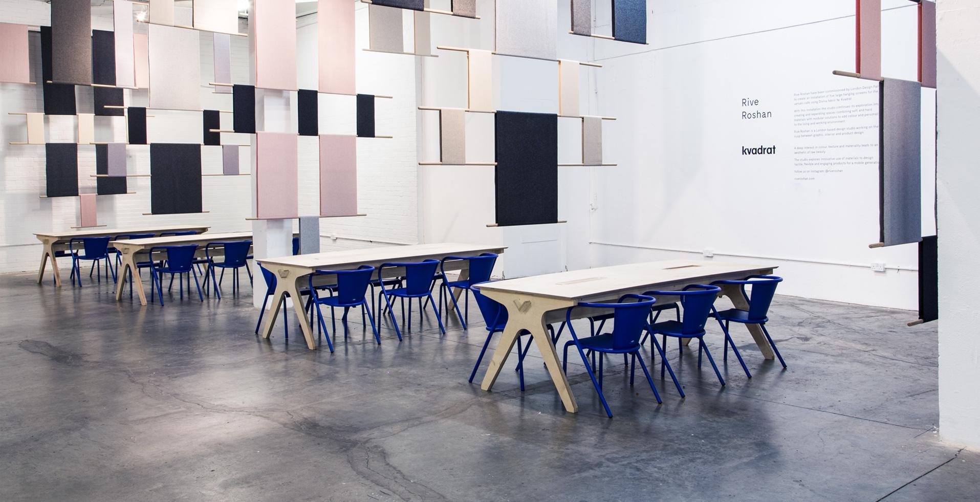 London Design Fair Cafe - Installation Rive Roshan