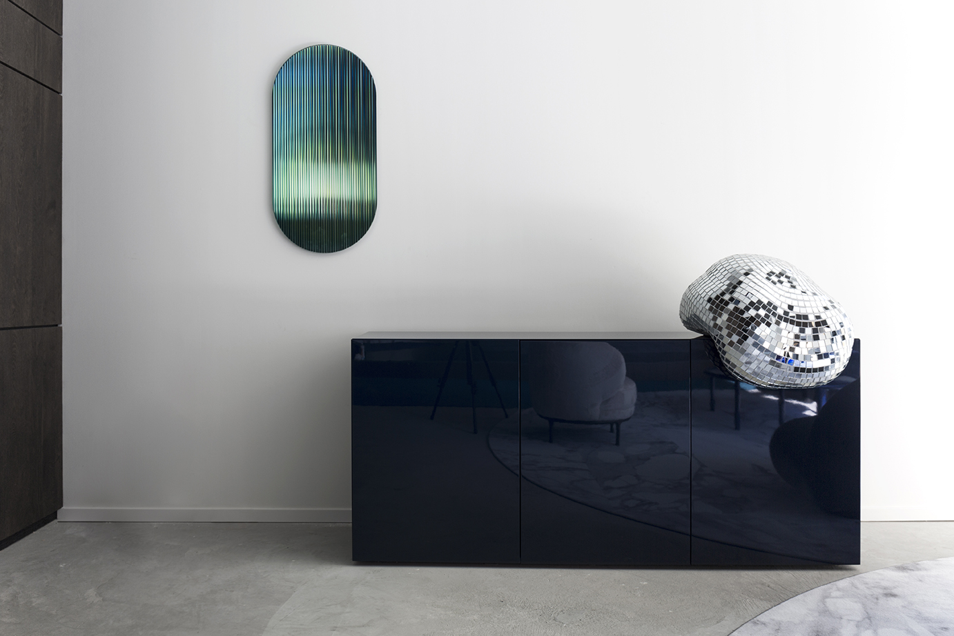 Colour Shift Panel - Green - displayed with Elle Decoration NL during Dutch Design Week 2018