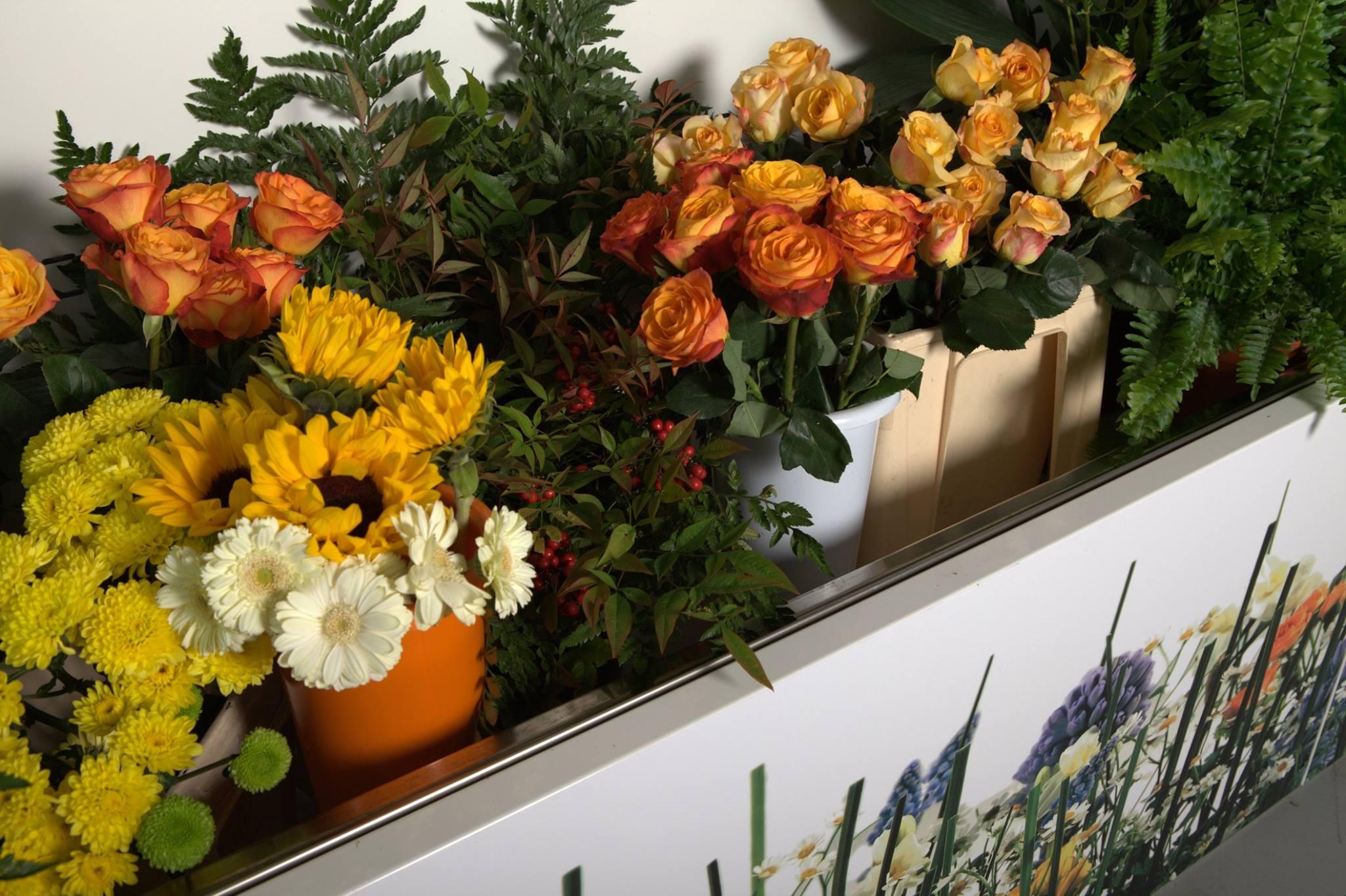 La vasca per esporre i fiori recisi.