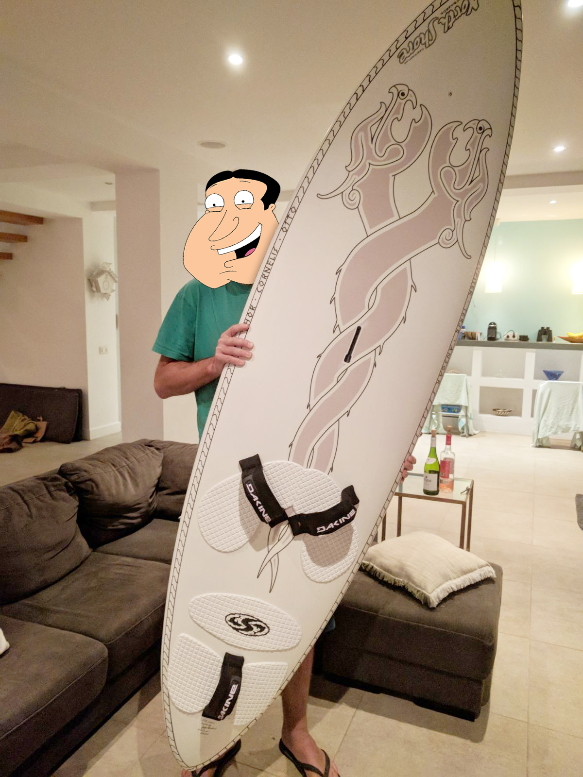 The result... one happy client... and one awesome surfboard