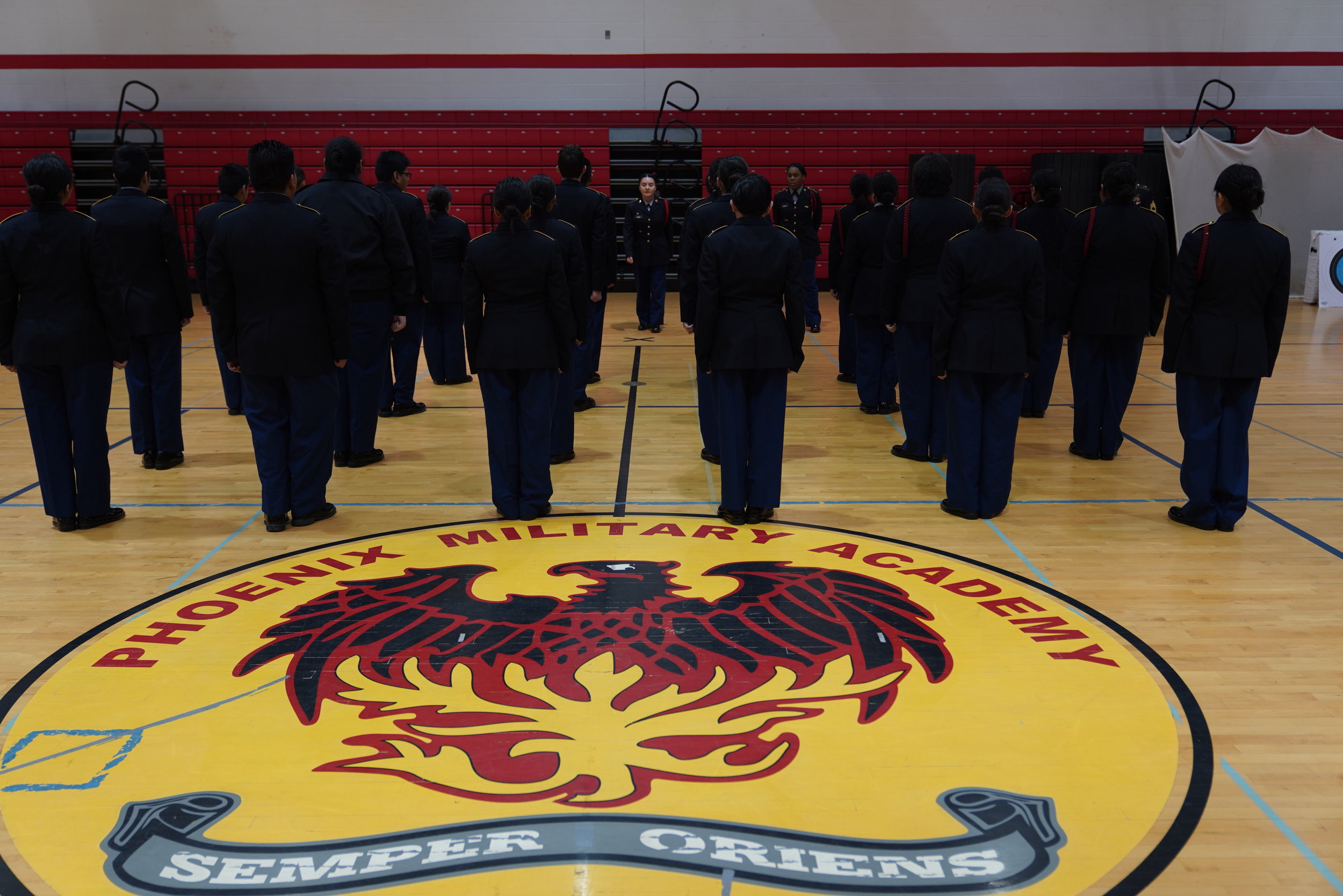 - In October 2018 I began photographing Phoenix Military Academy, a CPS high school in Chicago's Near West Side neighborhood.