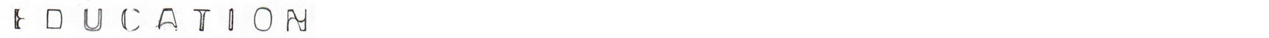 2011-2012 Master studies, Jewellery+Corpus, Konstfack University College of Arts, Crafts & Design, Stockholm, Sweden 2008-2011 BA Visual Art, Oslo National Academy of the Arts (KHiO), Norway 2010 Fine Art (exchange), Saimaa University of Applied Sciences, Imatra, Finland 2005-2008 Metalwork/Corpus, Leksands folkhögskola, Leksand, Sweden