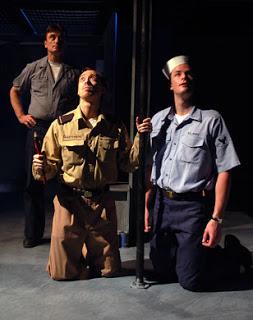 Dan Patrick Brady, Kevin T. Collins & Ryan Serhant in the WWII drama, Purple Hearts