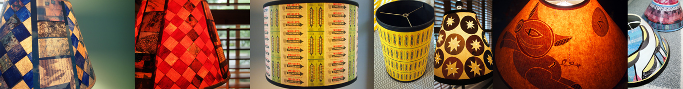 LIke I said, I was really into lamp shades for a while. Gum wrapper designs inspired by my husband giving up cigarettes.