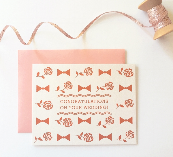 """""""Wedding Congrats"""" card from Fair Skies Design, available in  my shop!"""