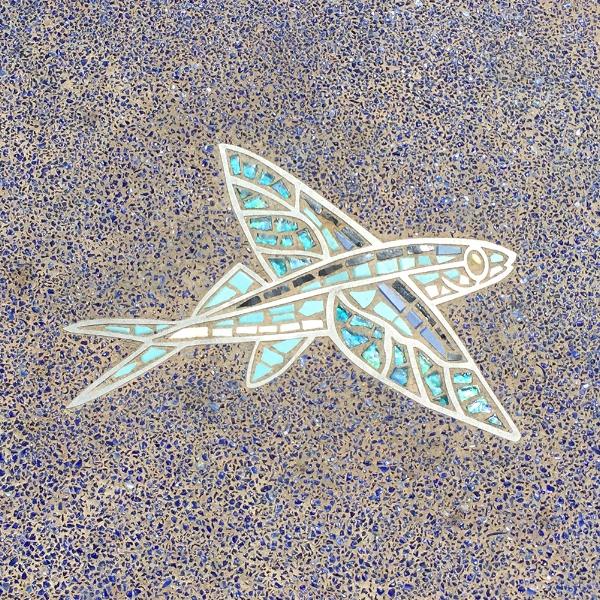 Fish mosaics at The Strand Vista Park in Dana Point.