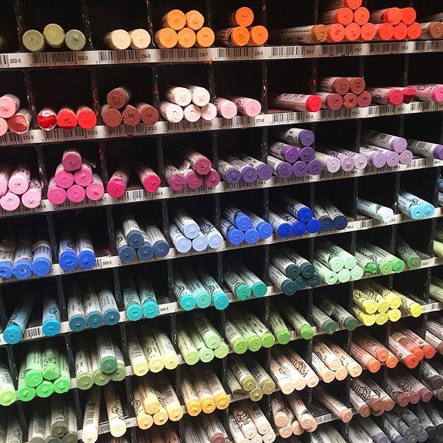 Shopping for art supplies 🎨