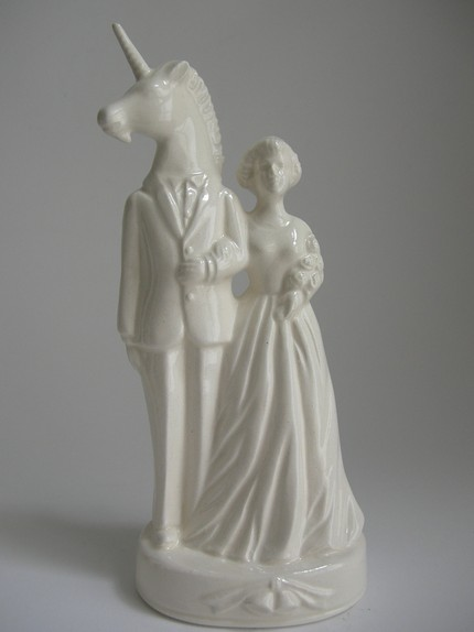 fantasy husband ceramic cake topper