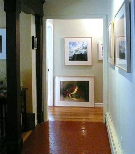 framed artwork lines my hallway - want to buy some?
