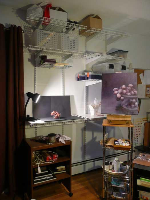 new studio shelves