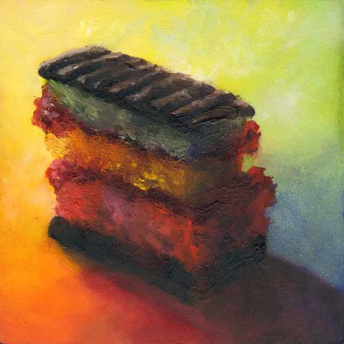 rainbow cookie small still life oil painting | SOLD