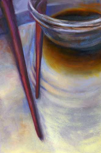 """Salty Reflection : oil on paper : 9.5"""" x 12.5"""""""