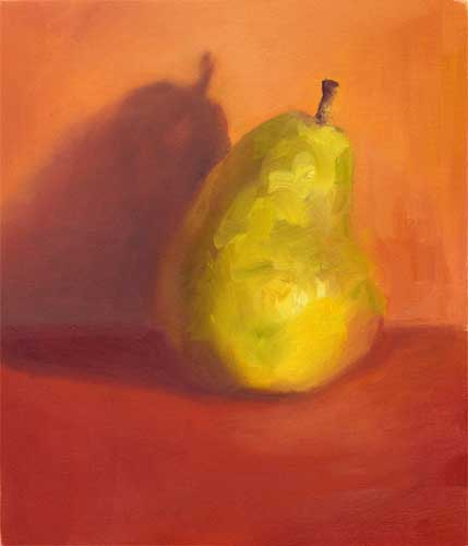 Yellow Pear II - small oil painting