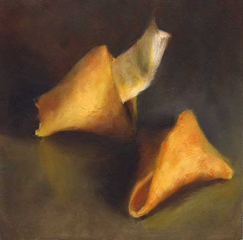 A Small Fortune - small still life oil painting