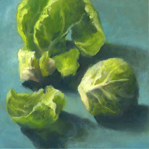 """Sprout - small oil painting 
