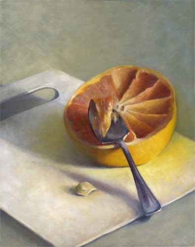 "Grapefruit Spoon - 20"" x 16"" oil painting"