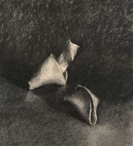 Cookie Consultation - charcoal still life drawing  |  SOLD