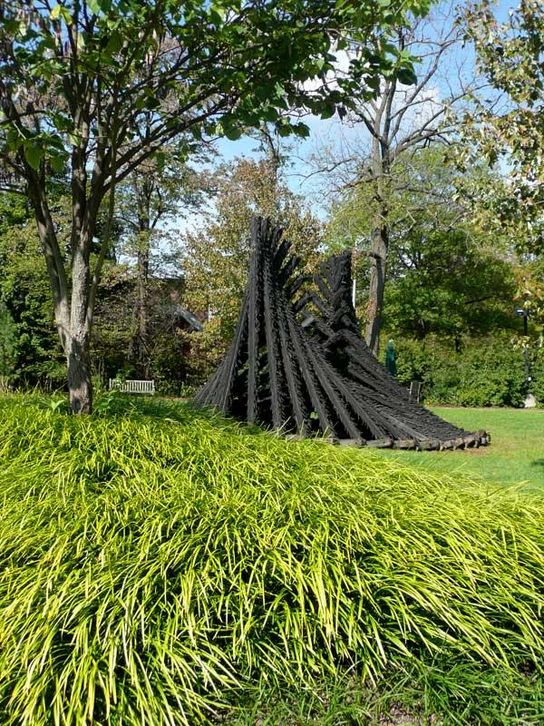 Chakaia Booker at the Sculpture Park NJCVA