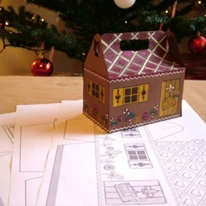 print your own gingerbread house